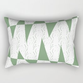 Abstract geometric pattern on white background Rectangular Pillow