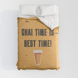 Funny Chai Tea Time Quote Comforters