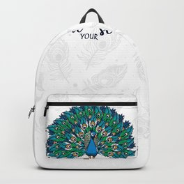 Strut your stuff ( peacock) Backpack