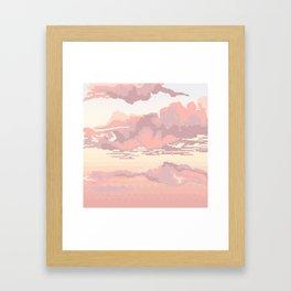 Lace Sky Framed Art Print