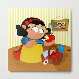 Snow White (apple) Metal Print