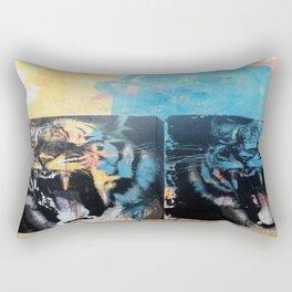 YAWNING TIGERS Rectangular Pillow