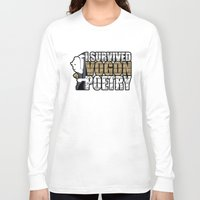 poetry Long Sleeve T-shirts featuring Vogon Poetry by Ryan McCondach