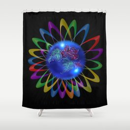 Abstract in Perfection - Rose 3 Shower Curtain
