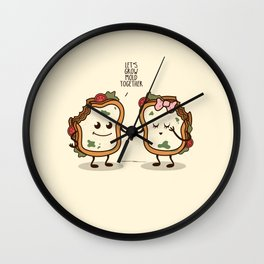 Let's Grow Mold Together Wall Clock