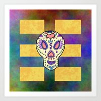 sugar skull Art Prints featuring Sugar Skull by Linda Tomei