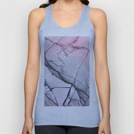 Urban Pink and Grey Marble Unisex Tank Top