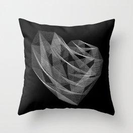Coração Transcrito 1 Throw Pillow