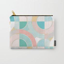 Hot Summer Splash / Geometric Pastel Pattern Carry-All Pouch