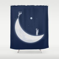 skate Shower Curtains featuring Skate Park by Naolito