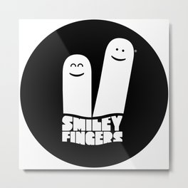 Smiley Fingers Metal Print