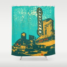 THE ROSE CITY Shower Curtain