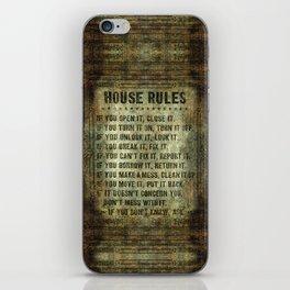 House Rules iPhone Skin