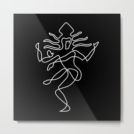 Lord of Dance BnW Metal Print