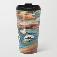 Water And Rock Expressionism Painting Metal Travel Mug