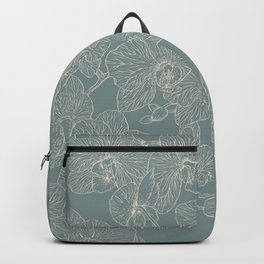Blue Inked Orchids Backpack