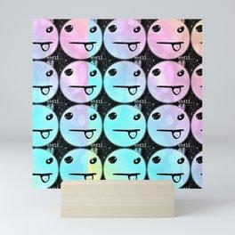 Rainbow Silly Face Mini Art Print