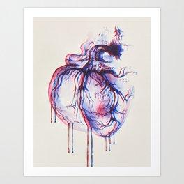 3D Heart Art Print