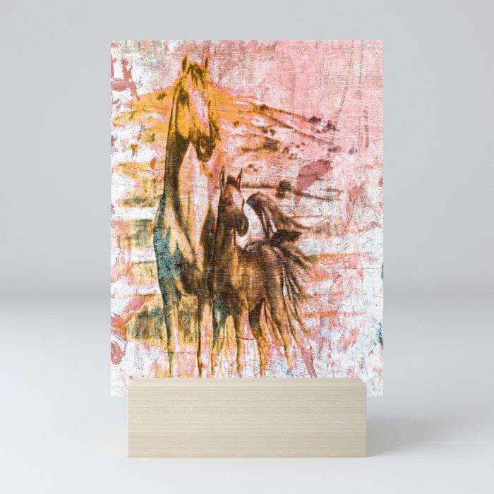 Vintage Horses Mini Art Print