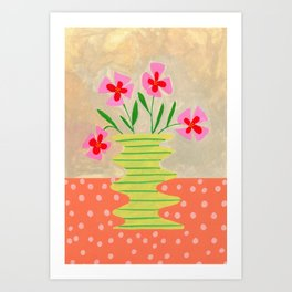 Flowers on a vase III Art Print