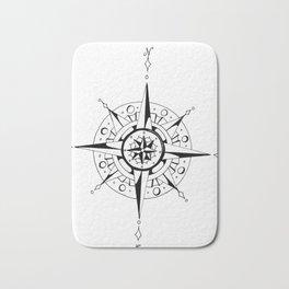 Compass Rose Bath Mat