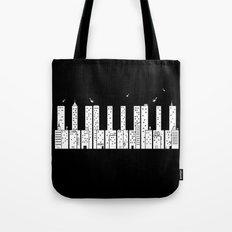 Piano Skyline Tote Bag