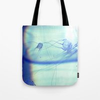 jelly fish Tote Bags featuring Jelly Fish by Amee Cherie Piek