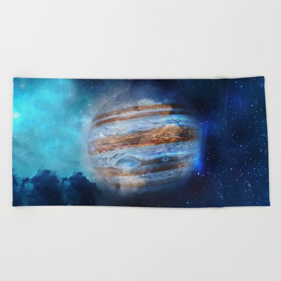 Hello Jupiter! Beach Towel