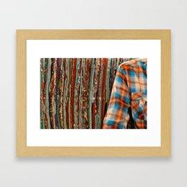 Shirt and sofa Framed Art Print