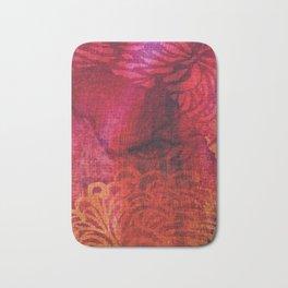 Textured Chrysanthemum | Jewel Toned Fuschia Gold Bath Mat