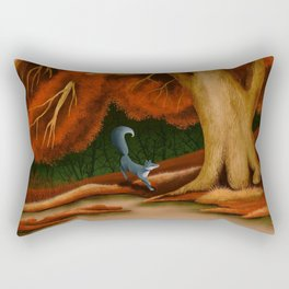 Blue Fox at The Dark Pool of Malkkaard Rectangular Pillow