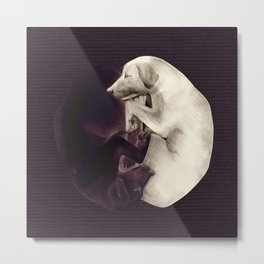 yin-yang dogs dark Metal Print