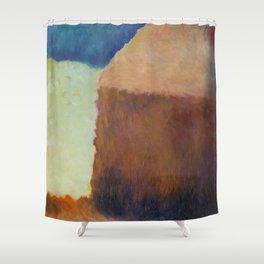 Artist's Study of Impressionist Monet's Haystacks Shower Curtain