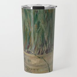 Flowerpot with Garlic Chives Travel Mug