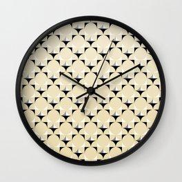 Mod Lt Sandalwood Wall Clock