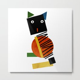 Black Square Cat - Suprematism Metal Print