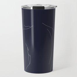 Woman's back line drawing - Alex Blue Travel Mug