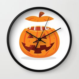 Papa's Little Pumkin Son Daughter Family Daddy Dad Design Wall Clock