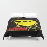 pac man Duvet Covers featuring Pac-Man by La Manette