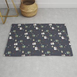 Christmas Stamps Pattern Rug