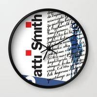 calligraphy Wall Clocks featuring Calligraphy 2 by omerfarukciftci