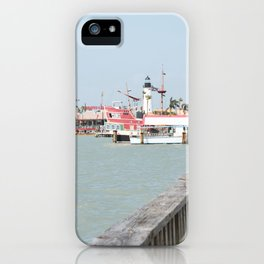 Lighthouse in Port Isabel Texas iPhone Case