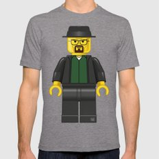 Lego Walter White - Vector Tri-Grey LARGE Mens Fitted Tee