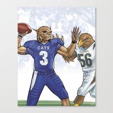 Wildcats versus Eagles Canvas Print