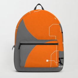 Seattle Orange Subway Map Backpack