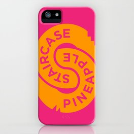 Pineapple Staircase  |  Official Logo in Pink/Orange iPhone Case
