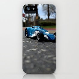 Strolling through the city streets. iPhone Case