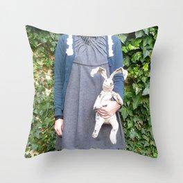 Cozy Bunny Throw Pillow