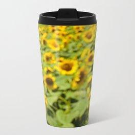 Summer Sunflower Love II Metal Travel Mug