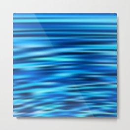 Blue Tussle Metal Print
